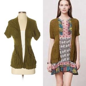 Angel of the North (Anthropologie) green cardigan